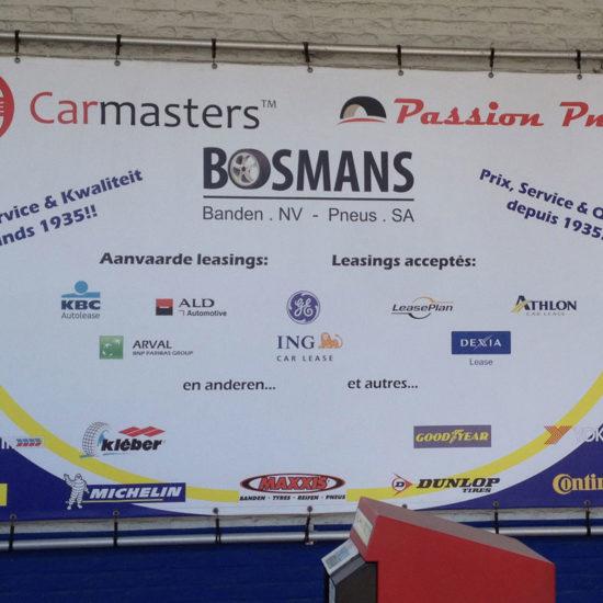 Bâche tendue sur structure en ALU pour Bosmans - Grafipix