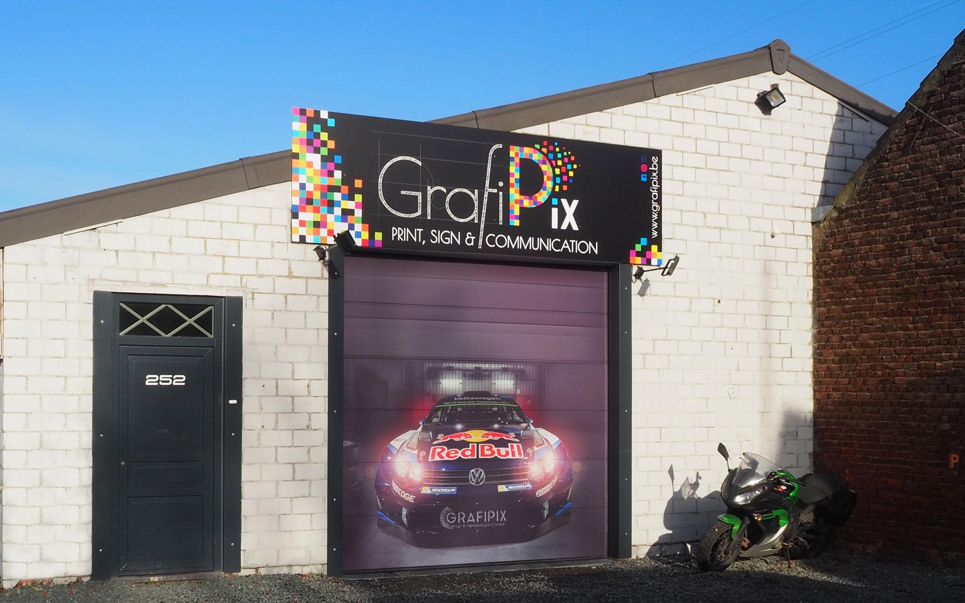 Grafipix - votre partenaire en lettrage, impressions grand format et communication
