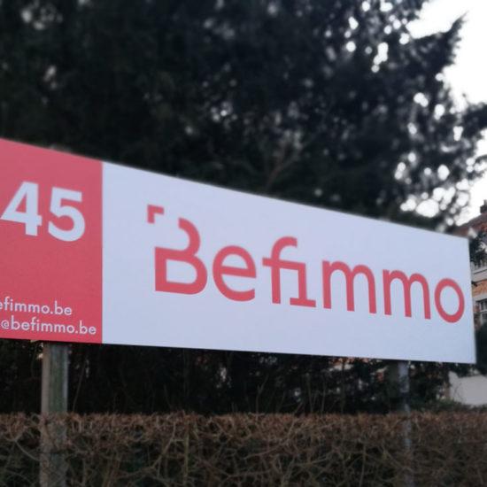 Panneau pour Befimmo - Grafipix
