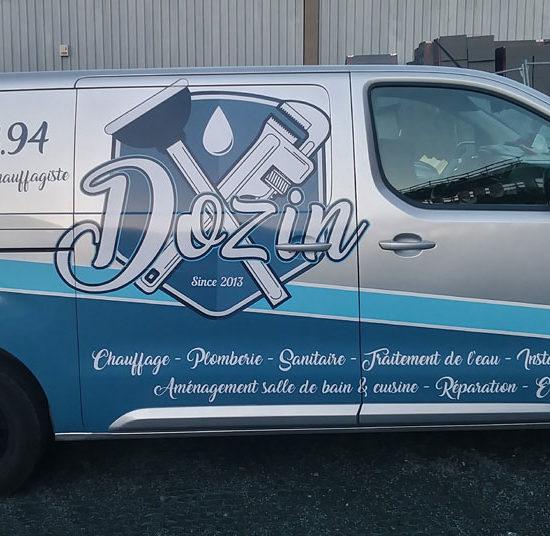 Covering d'une camionnette pour Dozin - Grafipix