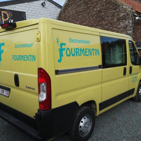 Lettrage d'une camionnette pour Fourmentin - Grafipix