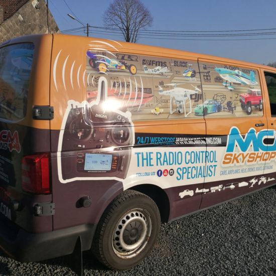 Covering d'une camionnette pour MCM Skyshop - Grafipix