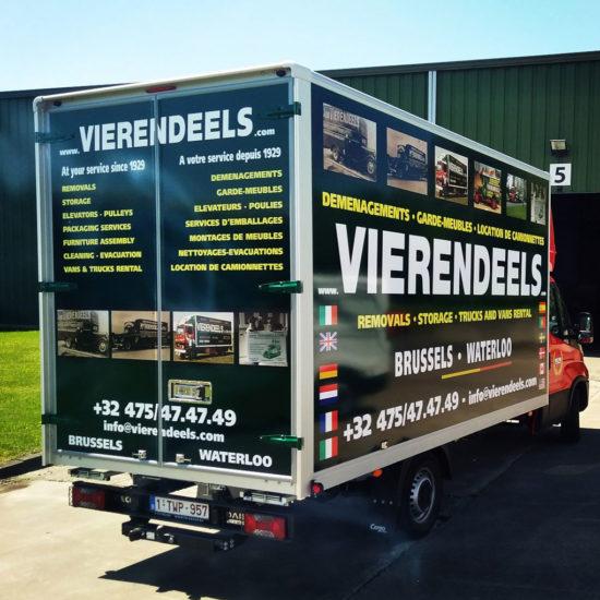 Lettrage d'un camion pour Vierendeels - Grafipix