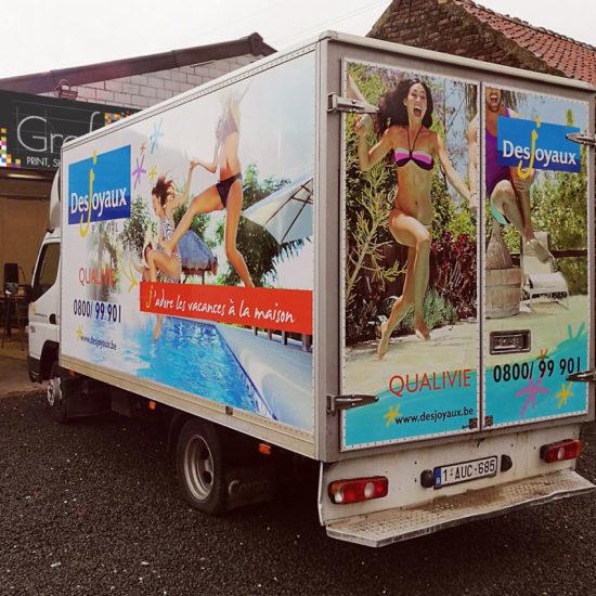 Full covering d'un camion pour Desjoyaux - Grafipix
