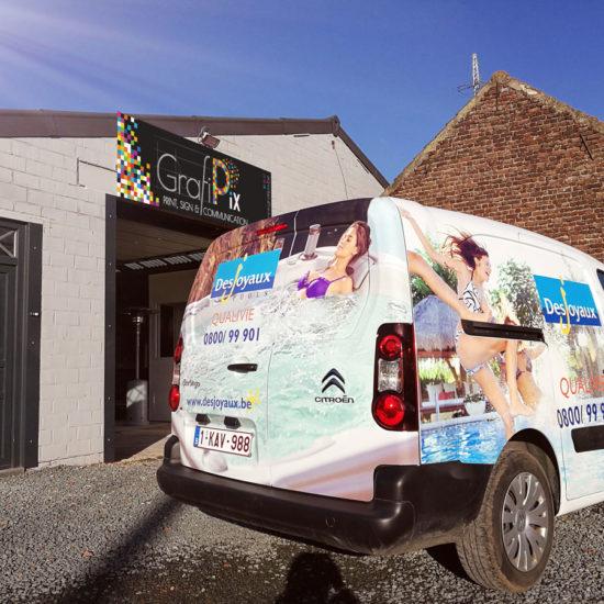 Full covering d'une camionnette pour Desjoyaux - Grafipix