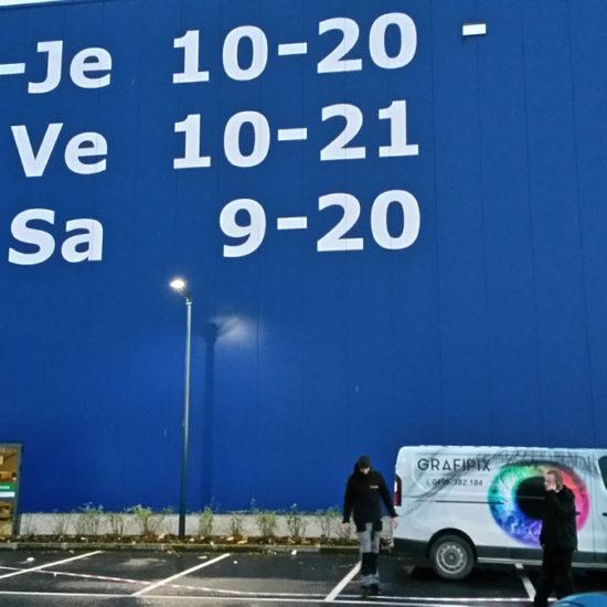 Lettrage géant pour IKEA - Grafipix