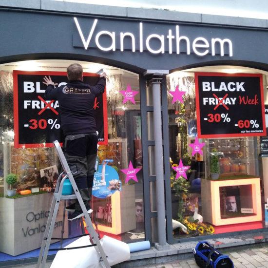 Lettrage de vitrines pour Vanlathem- Grafipix