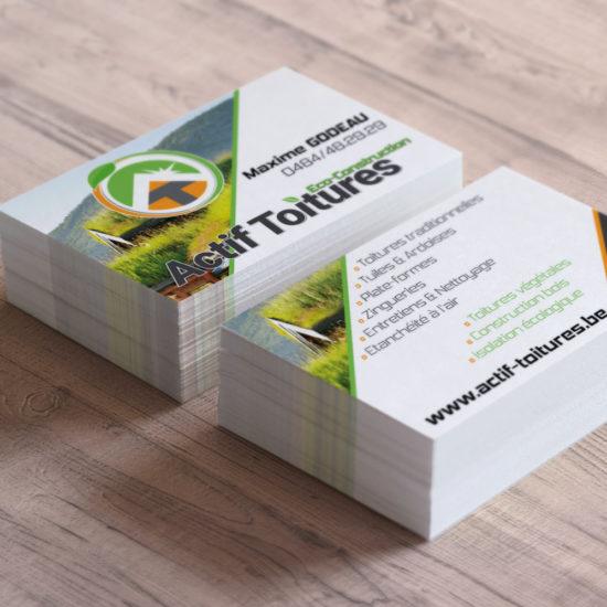 Cartes de visite pour Actif Toitures - Grafipix, votre partenaire en communication visuelle