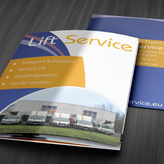 Dépliant triptyque format A5 pour Lift Service - Grafipix, votre partenaire en communication visuelle